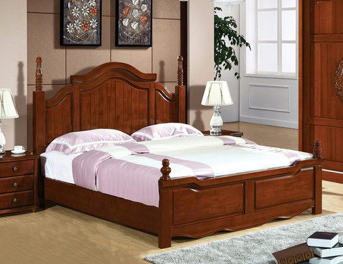 QUEEN ADELAIDE BED FRAME ONLY - BROWNISH BLACK