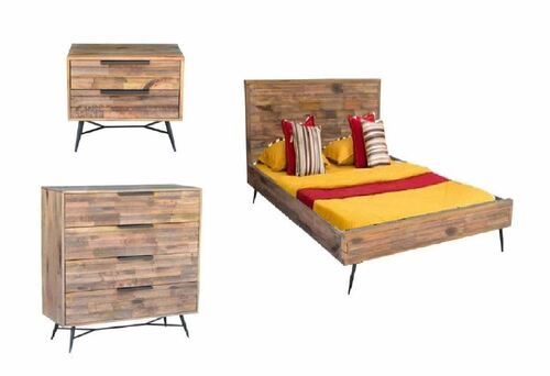 LEXINGTON KING  4  PIECE  TALLBOY  BEDROOM SUITE - BURNT WAX