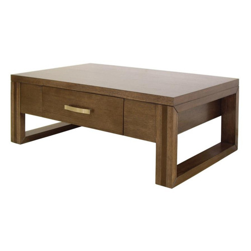 PARIS OAK COFFEE TABLE WITH 2 DRAWERS  - 1500(W) X 900(D) - OAK