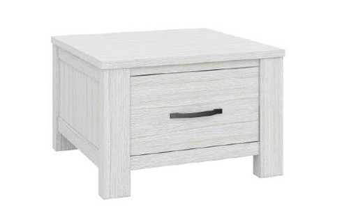 MILDRED LAMP / SIDE  TABLE  WITH ONE DRAWER  (6-12-15-9-14-1)  - WHITE WASH