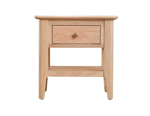 ROBINHOOD  (NT-LT)  LAMP TABLE WITH DRAWER  - OAK