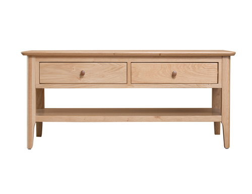 ROBINHOOD (NT-LCT)  COFFEE  TABLE WITH 2 DRAWERS  - 1200(W) X 600(D) - OAK