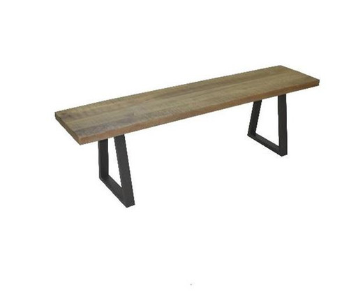 UNIQUE LIVE EDGE BENCH WITH METAL LEGS - 450(H) X 1500(W)- NATURAL