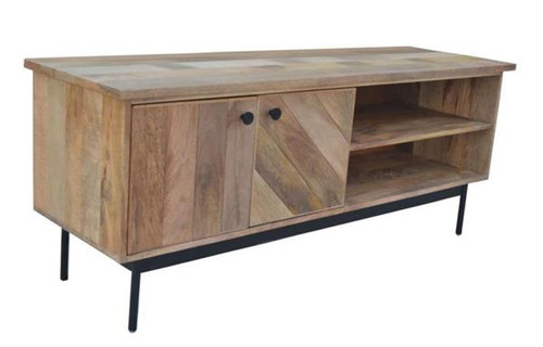 CLYDE LARGE TV UNIT 2 DOORS    ENTERTAINMENT UNIT - 550(H) x 1400(W)  - OAK