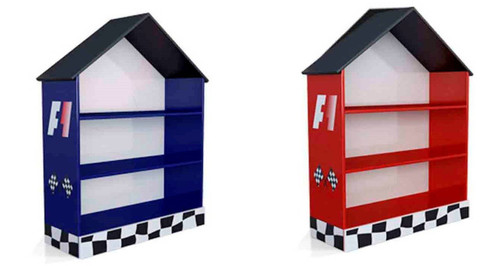 RACER CHILDREN BOOKCASE - RED(1105-20R)  OR BLUE(1105-20B)