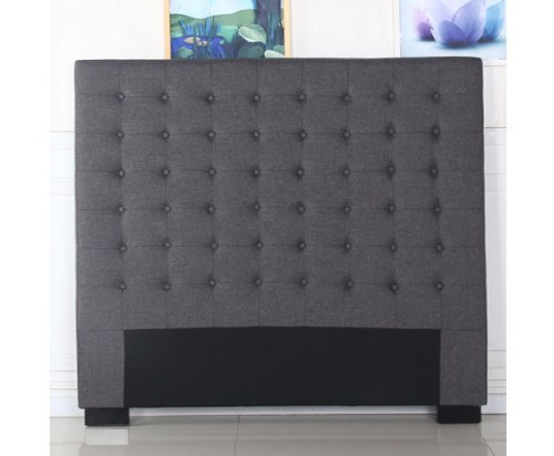 CILANTRO QUEEN  FABRIC HEADBOARD - CHARCOAL