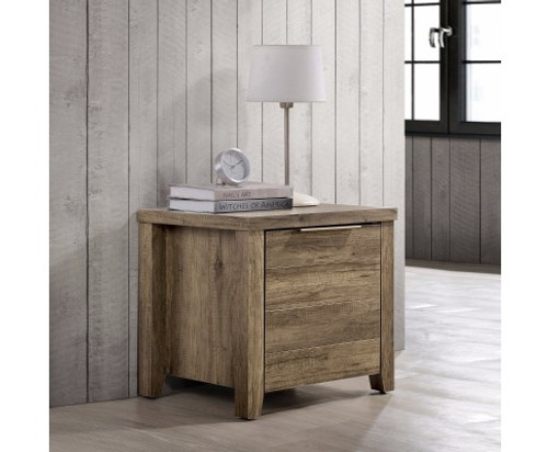 ALICEY 2 DRAWER BEDSIDE TABLE (V43-BST-ALCOAK) - OAK
