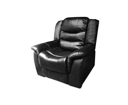 ALLAN   BONDED LEATHER SINGLE RECLINER  - BLACK