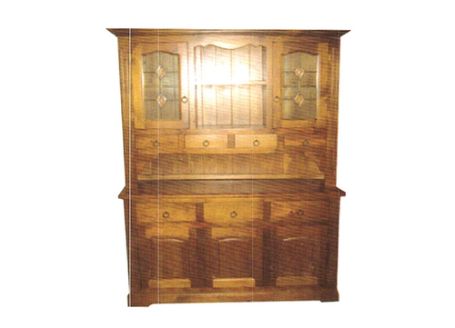 (WBH-3/7) BUFFET AND HUTCH WITH 5 DOORS AND DIAMOND LEADLIGHT DETAIL -1600(W)
