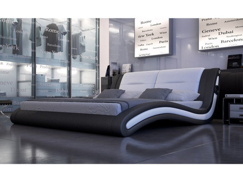 DOUBLE SICILY LEATHERETTE BED (3037) - ASSORTED COLOURS