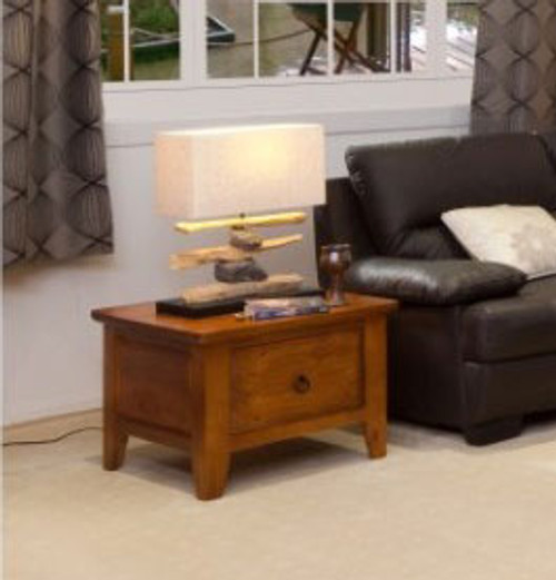 (WCOT-SLL) STRAIGHT LAMP TABLE WITH DRAWER