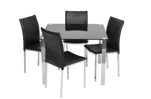 KIAMA  5  PIECE DINING SETTING WITH 1000(L) x 1000(W) SQUARE TABLE