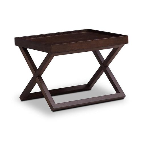 ABASI AJUSTABLE SIDE TABLE 580(W) - BLACK OAK