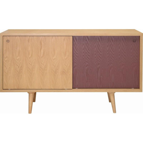 LOCKE  SCANDINAVIAN SLIDING DOOR  SIDEBOARD  1400(W) -NATURAL /  BROWN