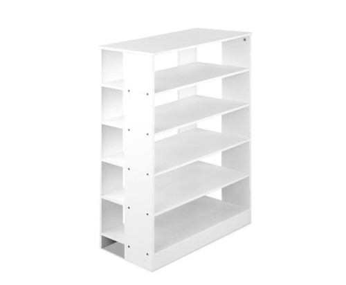 CACAU 6 - TIER SHOE CABINET 960(H) - (FURNI-C-SHOE-R5-WH) - WHITE