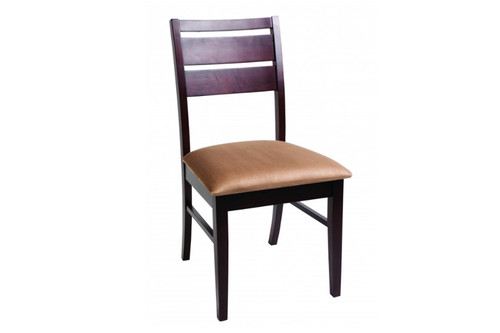 RIANNE FABRIC UPHOLSTERED DINING CHAIR  - WENGE + MOCHA