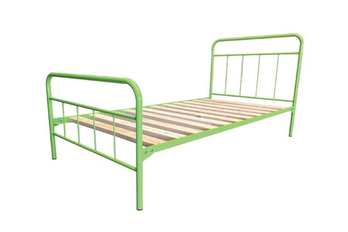 SINGLE  MOSSMAN  METAL  BED  - ASSORTED COLOURS AVAILABLE