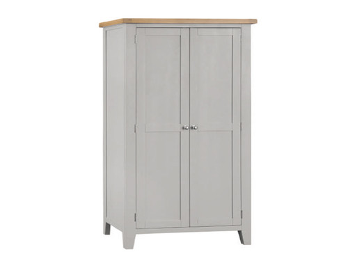 SPENCER (TT-FHR-G) FULL HANGING WARDROBE  - GREY / LIGHT OAK (2 TONE)