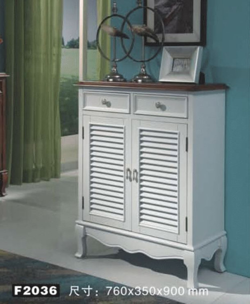 CHANDLER  - 900(H) x 760(W) DECORATIVE 2 DOOR SHOE CABINET WITH 2 DRAWERS (MODEL:F2035) - AS PICTURED