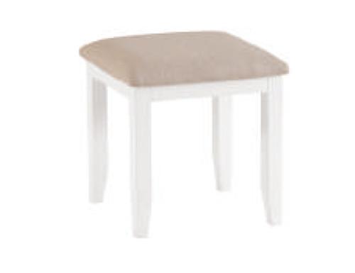 SPENCER (TT-ST-W) STOOL - BRIGHT WHITE  / LIGHT OAK (2 TONE)