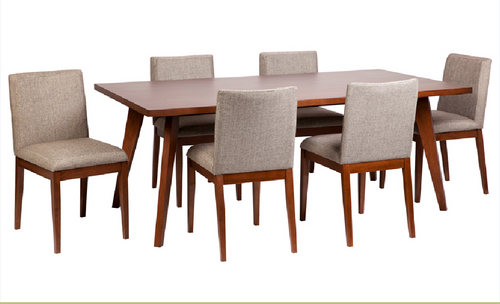 CLARA DINING TABLE ONLY  2000(L) X 1000(W) - WALNUT