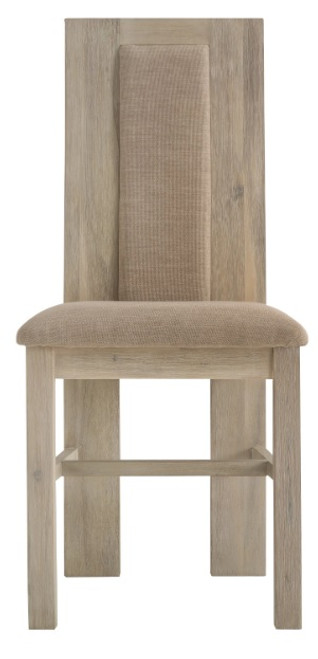 BRIGHTING DINING CHAIR WITH FABRIC INSERT (FC-CH) - NATURAL