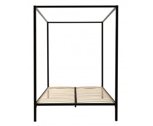 DOUBLE 4 POSTER METAL BED (V63-817853 ) - BLACK