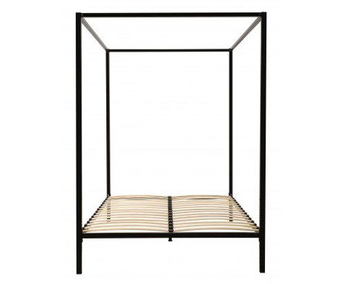 DOUBLE  4 POSTER METAL BED (V63-817853 ) -   BLACK
