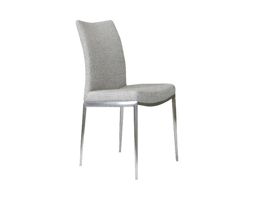 OLADIPO METAL SEAT COVER IN FABRIC DINING CHAIR - MODEL: 060-DC - AS PICTURED