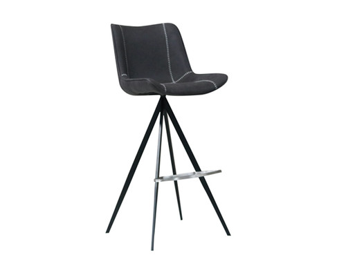 DURANT BLACK METAL POWDER COATING FRAME PU STITCHING BARSTOOLS - (MODEL: 064 -BS)  - AS PICTURED