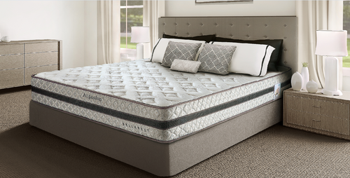 KING ANGASTON BONNEL SPRING MATTRESS  - FIRM