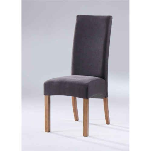 ASTON (II) FABRIC DINING CHAIR  -  NATURAL