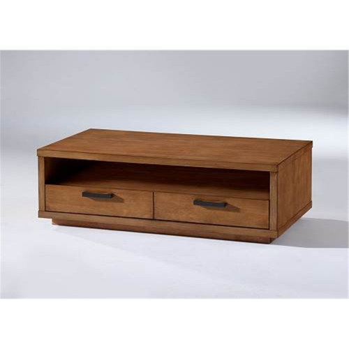 ASTON (II) 4 DRAWER COFFEE TABLE - 1200(W) x 650(D) - NATURAL OAK