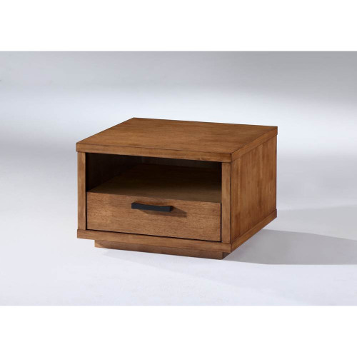 ASTON (II)  LAMP TABLE WITH 1 DRAWER -  NATURAL OAK