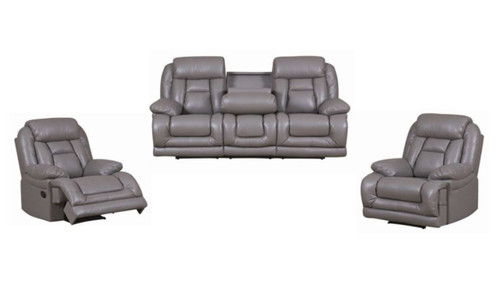 CELINA 3 SEATER + 2 SINGLE RECLINERS - BREEZE GREY, BREEZE COFFEE, BREEZE BLACK