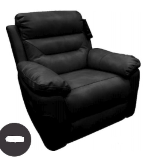 BRANDI SINGLE  SEATER RECLINER CHAIR  - BLACK