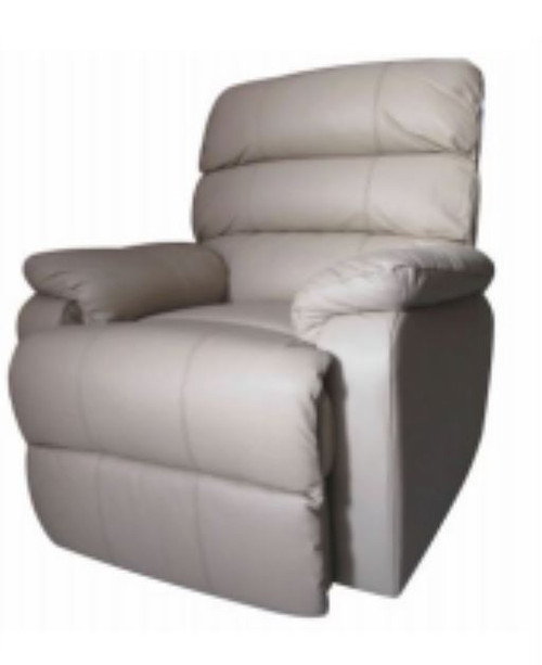 JOHN  SINGLE  SEATER ELECTRIC LEATHER RECLINER CHAIR  - BEIGE