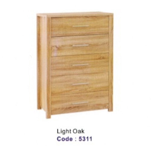CUE 5 DRAWER TALLBOY -  LIGHT OAK