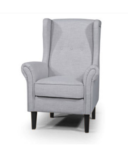BLISS UPHOLSTERED CHAIR - FIESTA ALMOND / DARK TIMBER LEGS