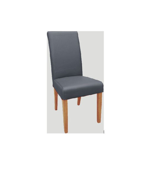 TORONTO TOP GRAIN  LEATHER DINING CHAIR  WITH LIGHT LEGS   - BROWN