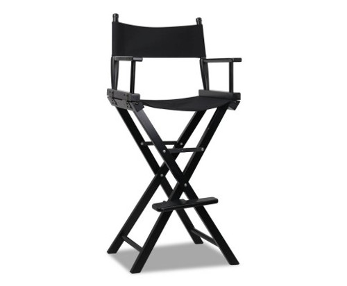 LOCKSLEY  TALL DIRECTOR WOODEN  CHAIR - BLACK