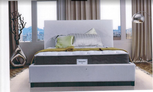 DOUBLE  FLORENCE    FABRIC  OR LEATHER UPHOLSTERED BED -  AS PICTURED