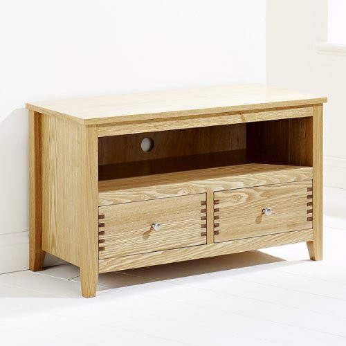 PERFECTION / OAKLEY 2 DOOR  TV / DVD  UNIT - 540(H) X 900(W) - LIGHT OAK