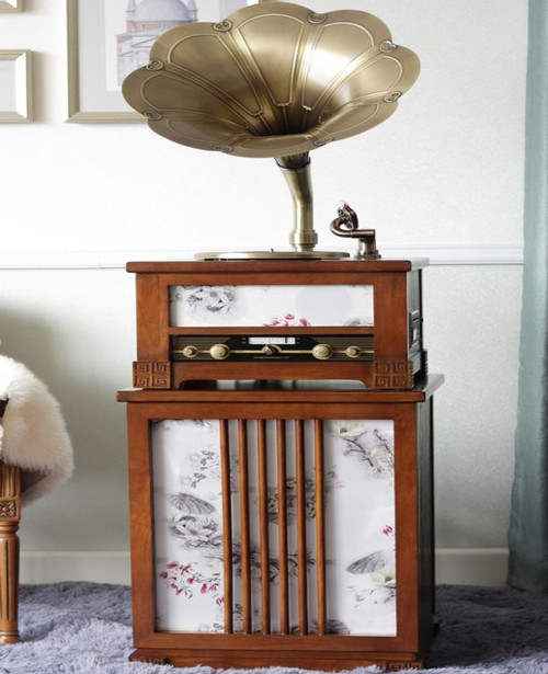 TRADITIONAL MUSIC SYSTEM  -  (MODEL - X10) - WHITE OR   BROWN