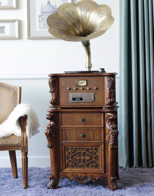 TRADITIONAL MUSIC SYSTEM  -  (MODEL - X13) - WHITE OR   BROWN