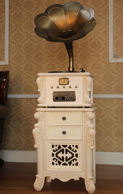TRADITIONAL MUSIC SYSTEM  -  (MODEL - X13) - ANTIQUE  WHITE OR  ANTIQUE  BROWN