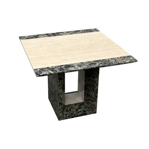 GOBSTEN MARBLE LAMP / SIDE TABLE - (MODEL: 9102)  -  2 TONE