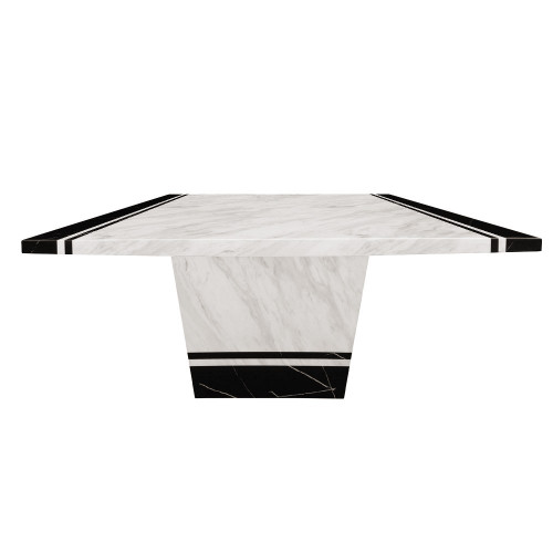 MARCOS  MARBLE  SQUARE 900 X  900 DINING  TABLE - (MODEL: 9104)  -  2 TONE