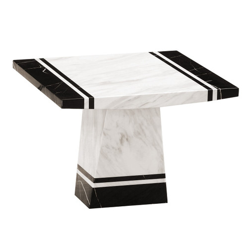 MARCOS MARBLE  LAMP TABLE   - (MODEL: 9104)  -  2 TONE
