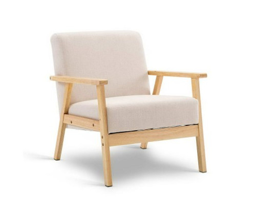 ARRAY  FABRIC SINGLE SEATER  CHAIR  -  BEIGE